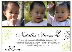 Customizable Girl 2nd Birthday Invitation Samples
