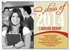Girl Middle School Graduation Invitation Example