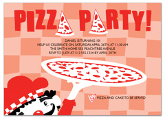 Kids Pizza Party Microsoft Word Birthday Invitation