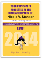 Baby Girl Preschool Personalized Graduation Invitation